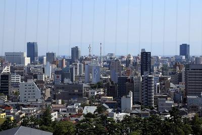日本海タワーから見た新潟市街地