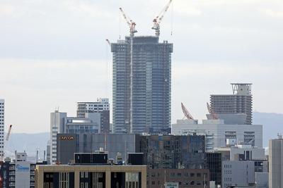 大阪城から見たザ・パークハウス中之島タワー