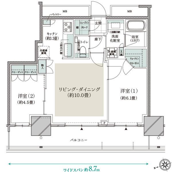 ドレッセタワー新綱島 50C Type
