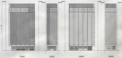 (仮称)神田練塀町地区第一種市街地再開発事業 立面図