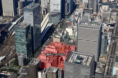 八重洲二丁目中地区第一種市街地再開発事業の空撮