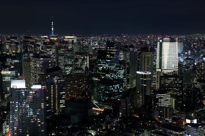 六本木ヒルズから「アークヒルズ 仙石山森タワー」方面の夜景
