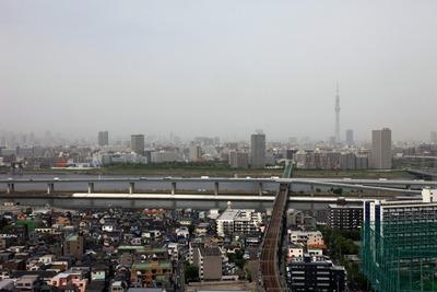黄砂が飛来した東京