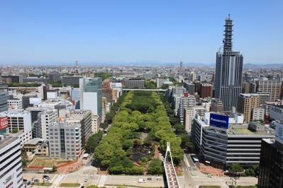 名古屋テレビ塔から北側の眺め