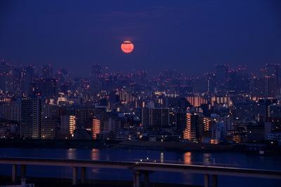 東京夜景とスーパームーン