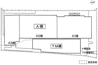 (仮称)浜松町二丁目4地区A街区(A棟、TM棟) 配置図