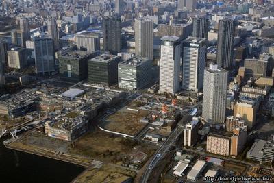 豊洲駅周辺の空撮