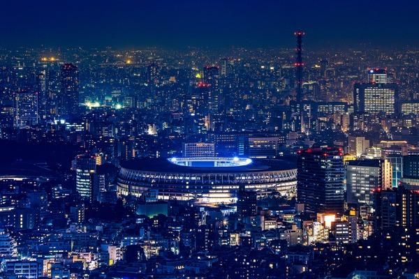渋谷スカイから国立競技場方面の夜景