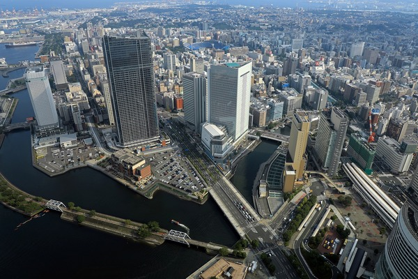 横浜ランドマークタワーからの眺め