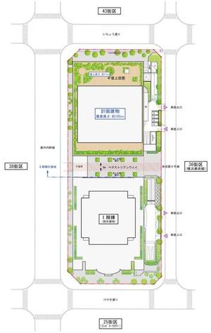 (仮称)みなとみらい21中央地区37街区II期棟計画 配置図