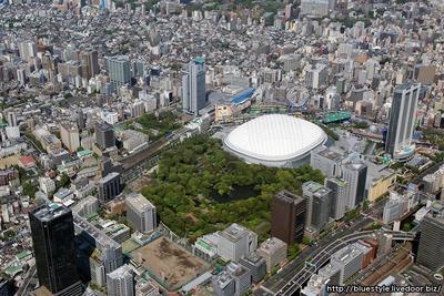東京ドーム・小石川後楽園の空撮