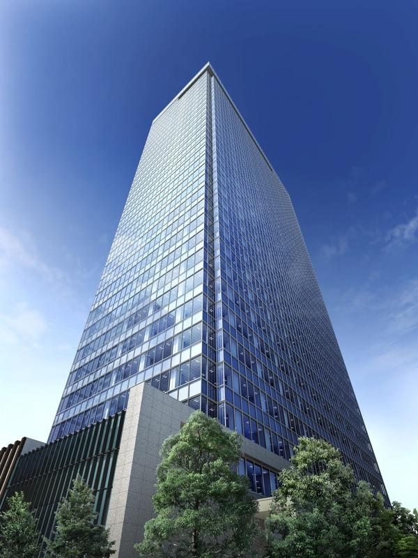 西新宿五丁目北地区防災街区整備事業 A棟 完成予想図
