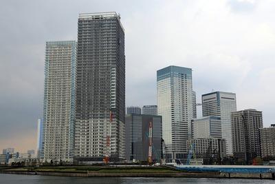 晴海の超高層ビル群