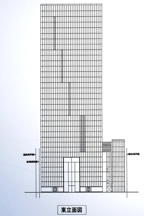 W OSAKA 東立面図