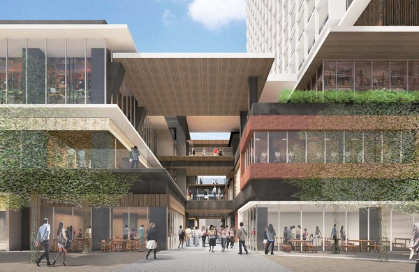 立石駅北口地区第一種市街地再開発事業 路地空間の再生ゾーン
