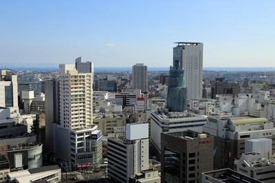 静岡県庁別館からの眺め
