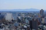 栃木県庁舎 本館から宇都宮駅方面