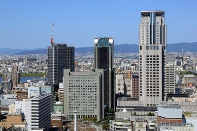 阪急グランドから見たザ・セントラルマークタワー
