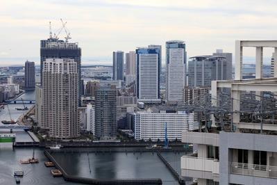 リバーシティ21イーストタワーズ�からの眺め