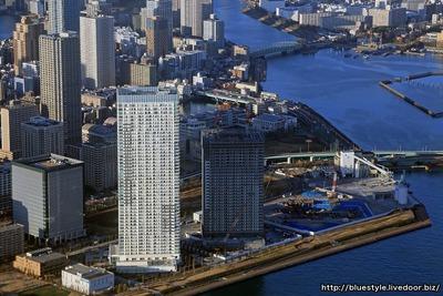 ザ・パークハウス晴海タワーズとパークタワー晴海の空撮