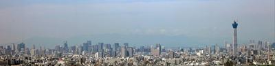 アイ・リンクタウンの無料展望台からの都心方面の眺め