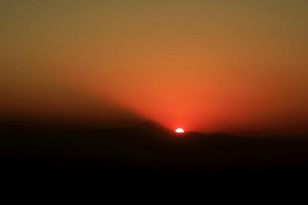 渋谷スカイから見た夕焼け