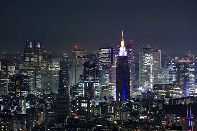 六本木ヒルズから新宿方面の夜景