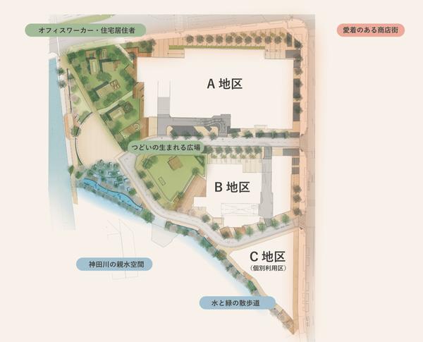 (仮称)西新宿五丁目北地区防災街区整備事業 配置図