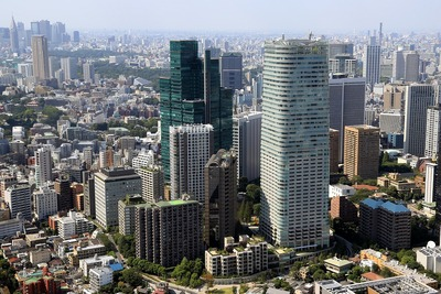 東京タワーから見た六本木一丁目駅方面
