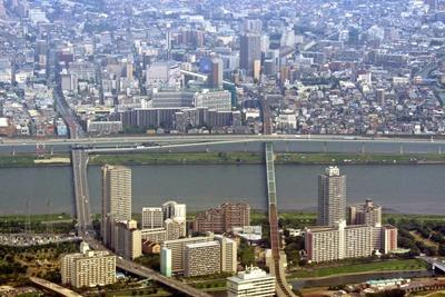 空撮 東大島と船堀