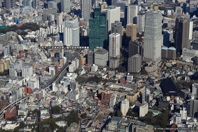 麻布台・六本木・赤坂・虎ノ門方面の空撮