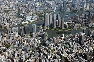 中央区新川・湊・佃の空撮