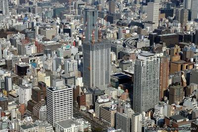大阪ひびきの街 ザ・サンクタスタワーの空撮
