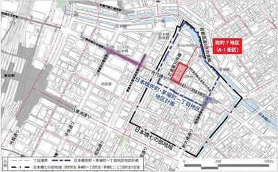 日本橋兜町7地区(A-1街区) 位置図