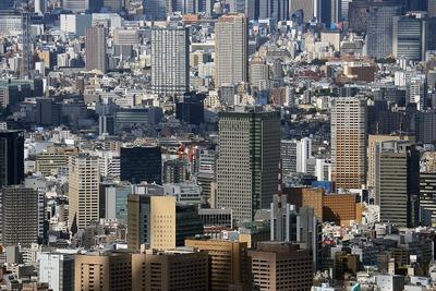 東京スカイツリーから見た飯田橋駅周辺