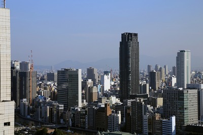 大阪駅前第三ビルからの眺め