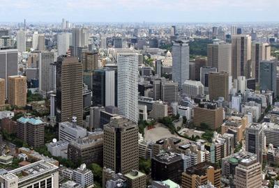 東京タワーから虎ノ門方面の眺め