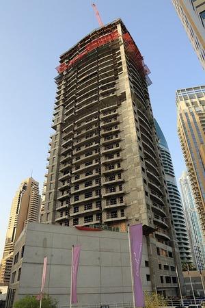 ドバイで建設中のマンション