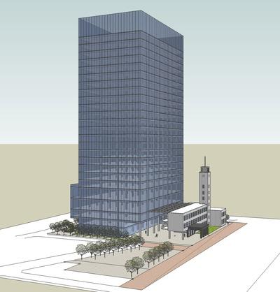 新本庁舎全体パース