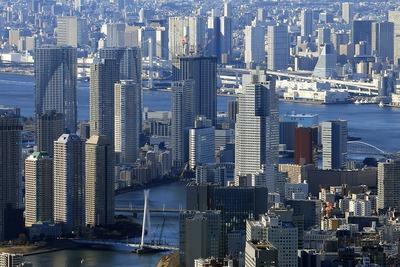 東京スカイツリーから見た勝どき方面