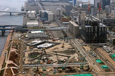 パークシティ豊洲から見た晴海二丁目の再開発