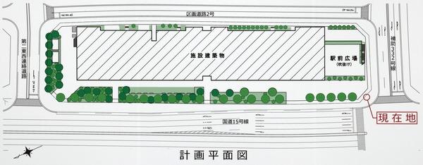 東京都市計画事業泉岳寺駅地区第二種市街地再開発事業 計画平面図