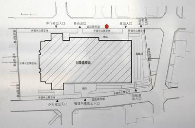 (仮称)大阪扇町計画新築工事 配置図