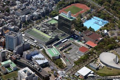 渋谷区/区庁舎・渋谷公会堂再整備計画の空撮