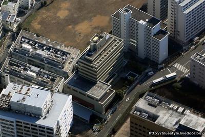 在日本朝鮮人総連合会(朝鮮総連)中央本部の空撮