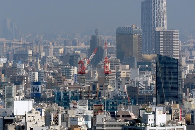 文京シビックセンターから見た(仮称)東上野二丁目計画