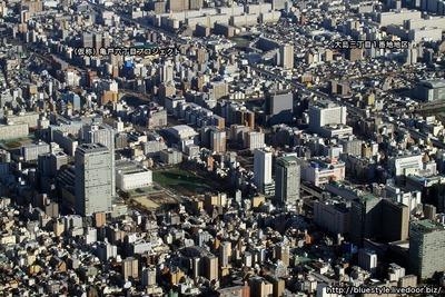 錦糸町・亀戸・大島方面の空撮