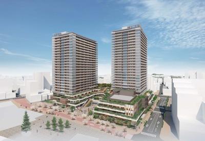 武蔵小金井駅南口第2地区第一種市街地再開発事業 完成予想図