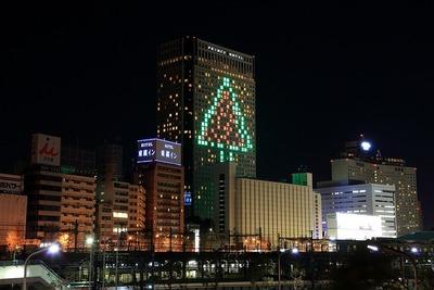 品川プリンスホテルのクリスマスツリー