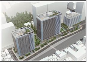 囲町東地区第一種市街地再開発事業 イメージパース